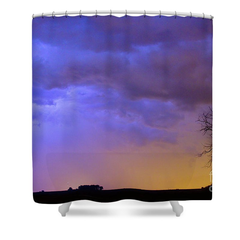Weld County Shower Curtain featuring the photograph Colorful C2c Lightning Country Landscape by James BO Insogna