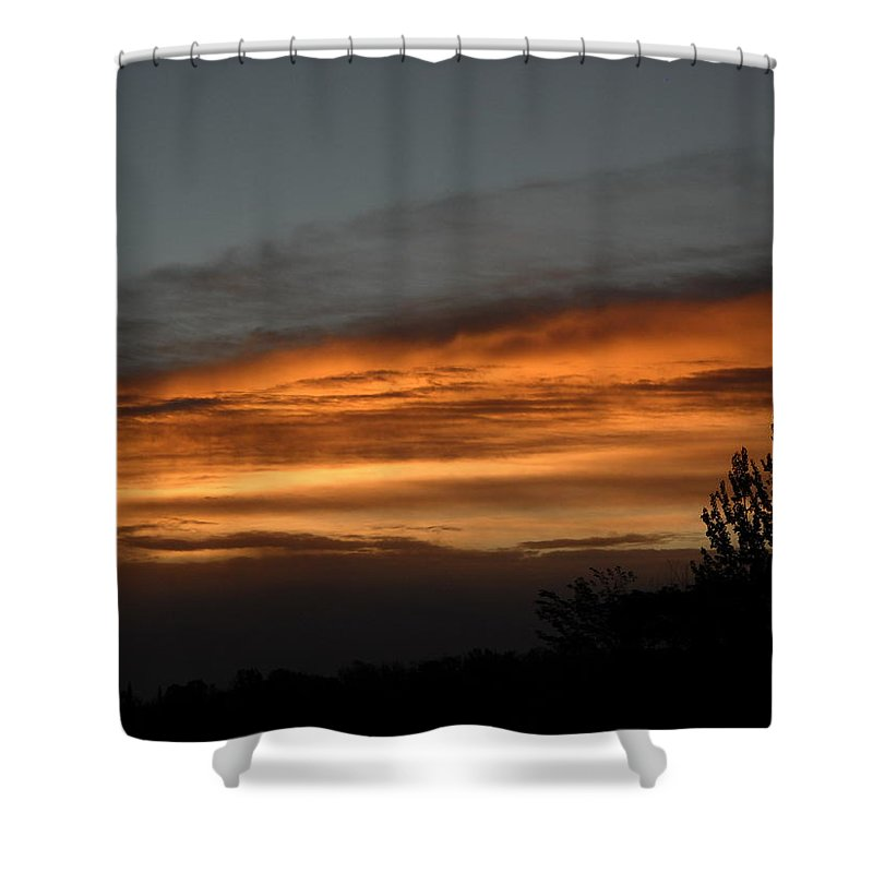 Dawn Shower Curtain featuring the photograph Colorful Clouds In Dawn Sky by Kent Lorentzen