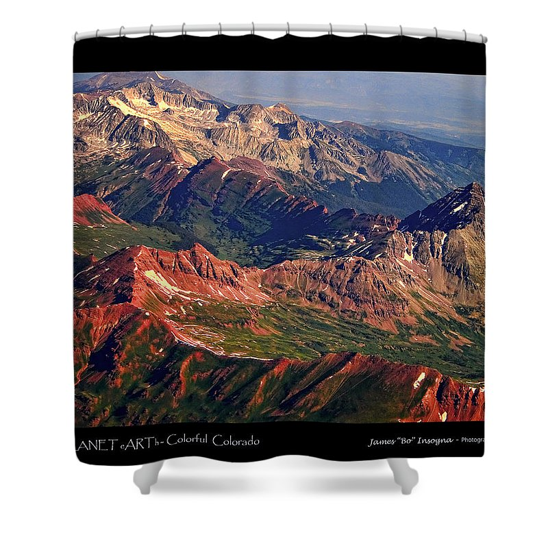 Colorful Shower Curtain featuring the photograph Colorful Colorado Rocky Mountains Planet Art Poster by James BO Insogna