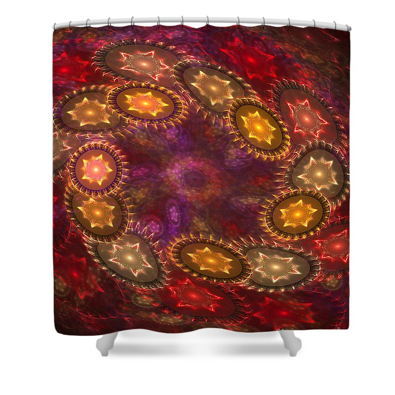 Stars Shower Curtain featuring the digital art Colorful Galaxy Of Stars by Deborah Benoit