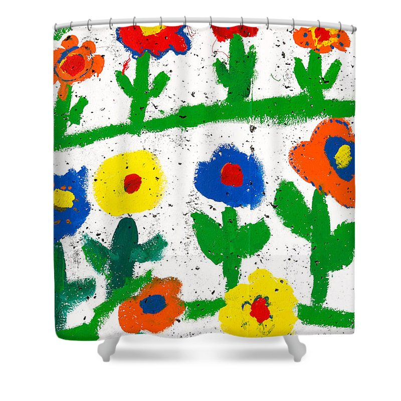 Flowers Shower Curtain featuring the photograph Colorful Garden by Gaspar Avila