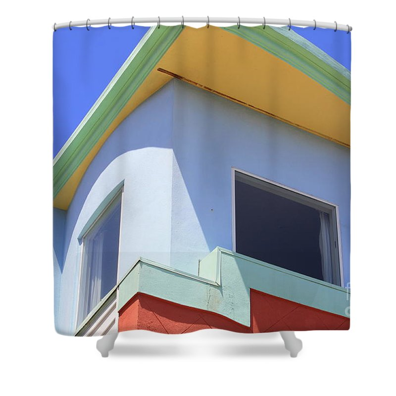 San Franciso Shower Curtain featuring the photograph Colorful House In San Francisco by Carol Groenen