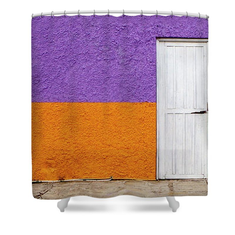 Purple Shower Curtain featuring the photograph Colorful In Negril by Glennis Siverson