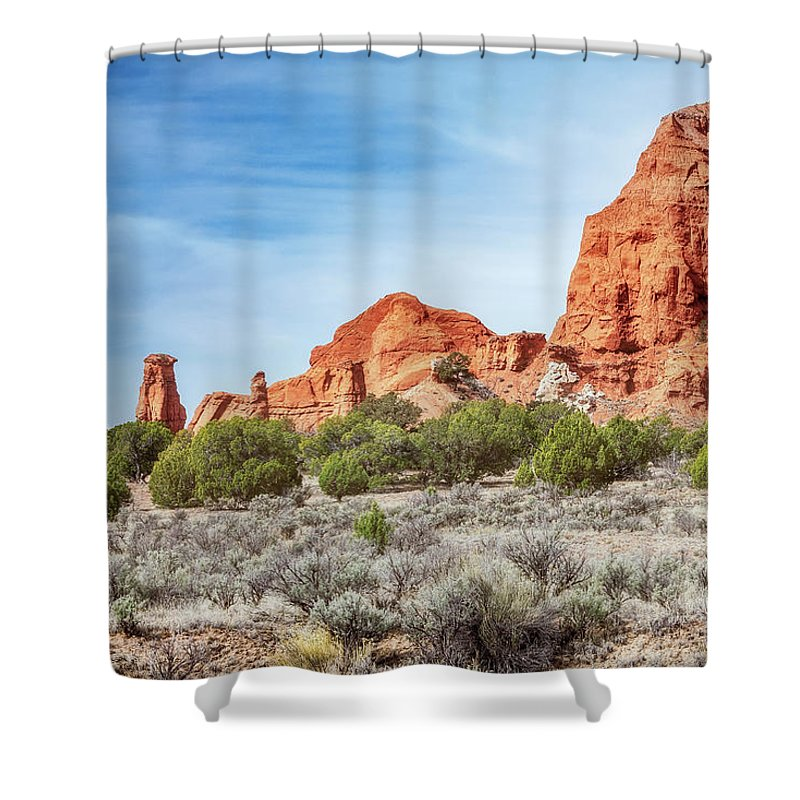Bryce Shower Curtain featuring the photograph Colorful Rock Formations In Kodachrome Basin State Park, Utah by Daniela Constantinescu