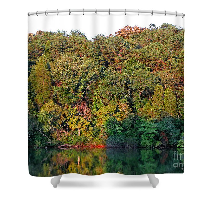 Landscape Shower Curtain featuring the photograph Colorful Sunset by Todd A Blanchard
