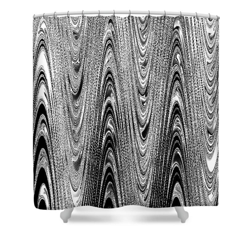 Wood Grain Shower Curtain featuring the digital art Colorless Wood Grain by Pharris Art