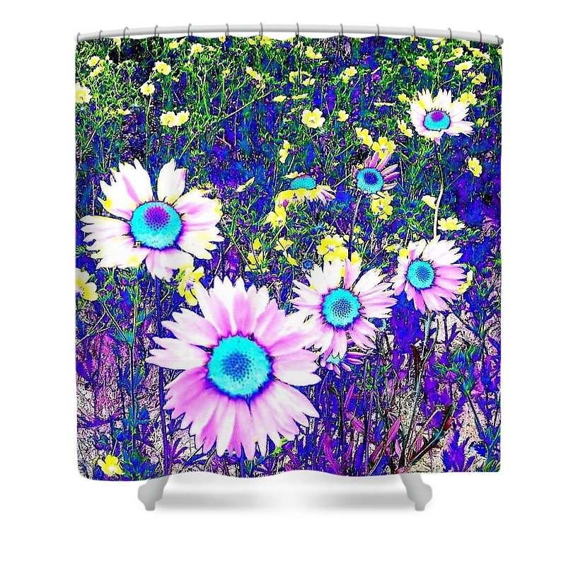 Photo Design Shower Curtain featuring the digital art Colormax 2 by Will Borden