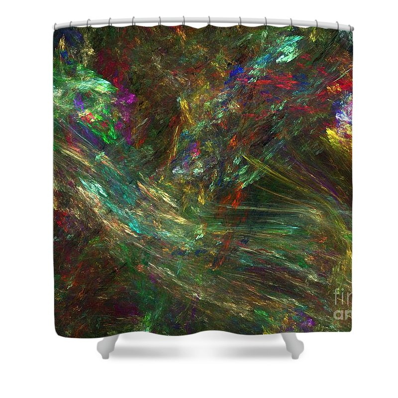 Fractals Shower Curtain featuring the digital art Colors Of Light by Richard Rizzo