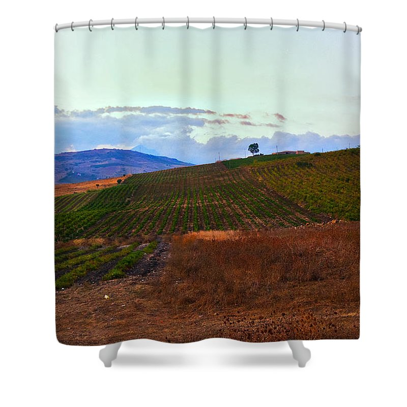 Sicily Shower Curtain featuring the photograph Colors Of Sicily by Madeline Ellis