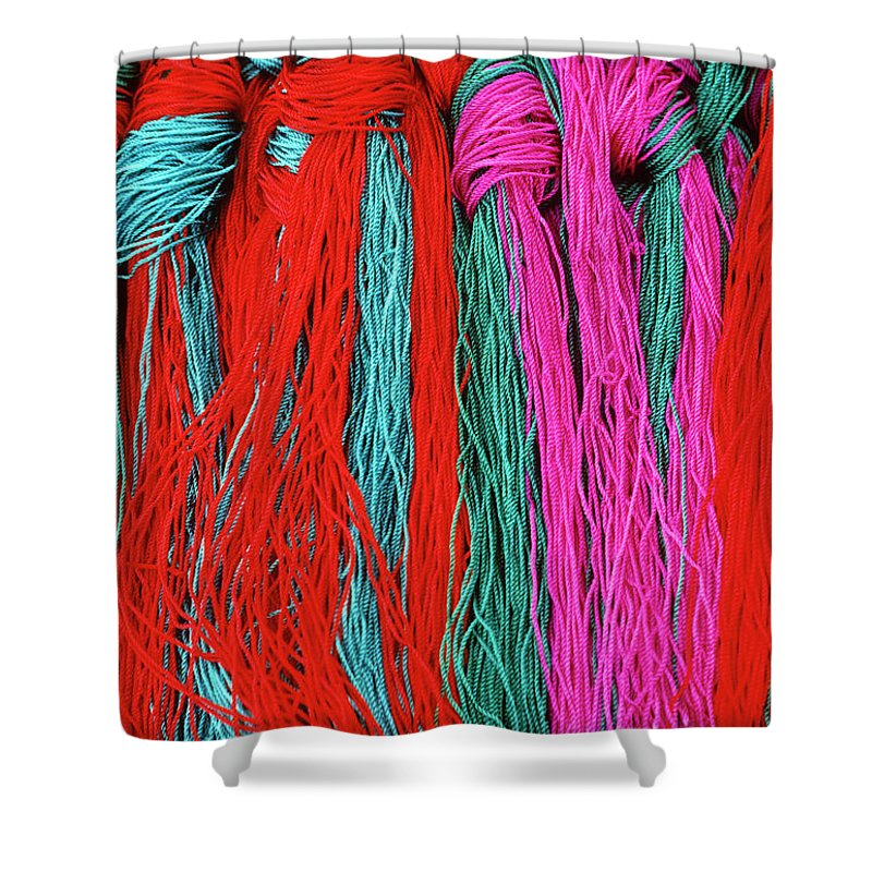 Tibet Shower Curtain featuring the photograph Colors Of Tibet by Michele Burgess