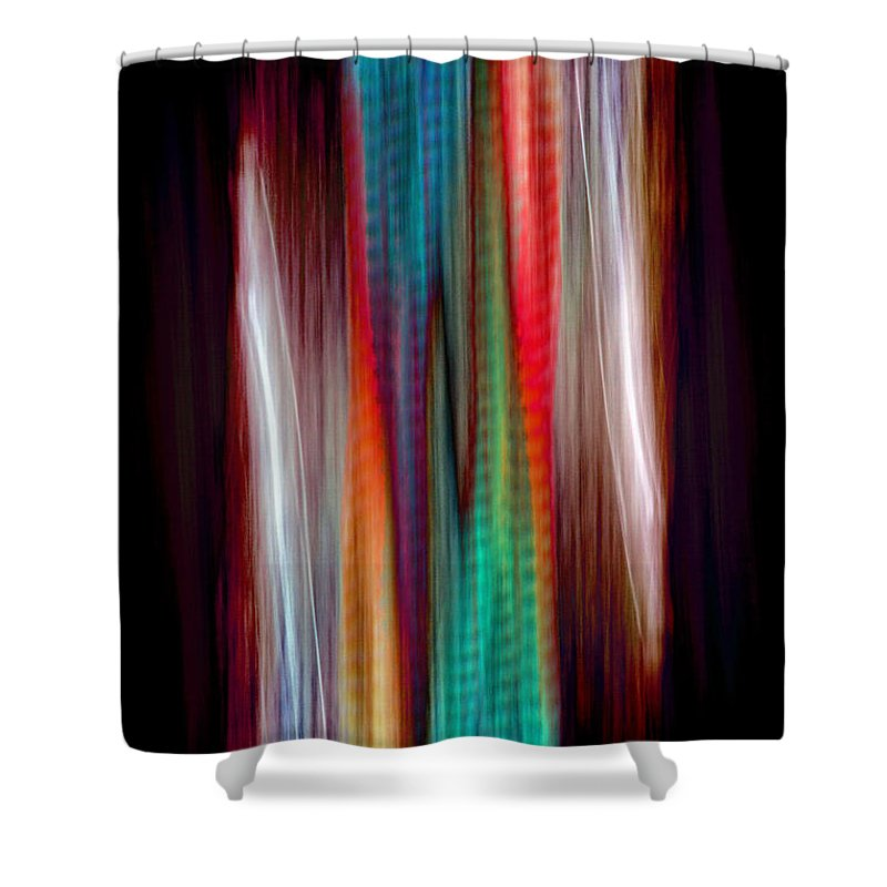 Colour Shower Curtain featuring the painting Colour Stream by Roger Turley