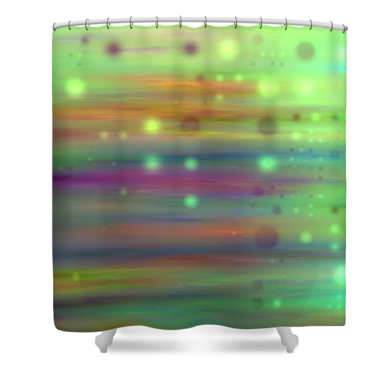 Art Digital Art Shower Curtain featuring the digital art Colour13mlv - Impressions by Alex Porter