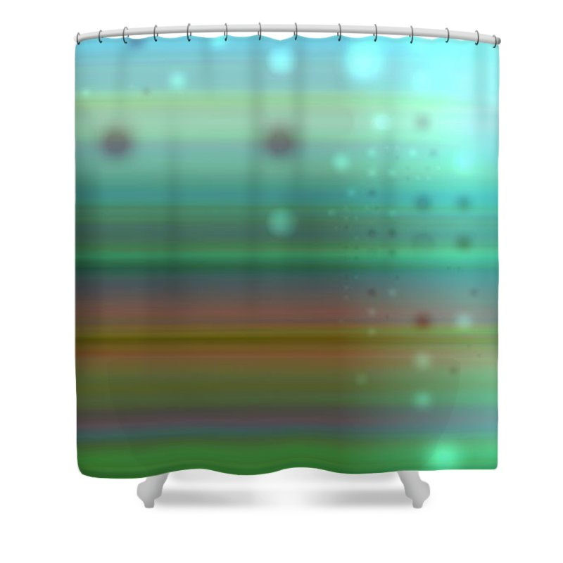 Art Digital Art Shower Curtain featuring the digital art Colour17mlv - Impressions by Alex Porter