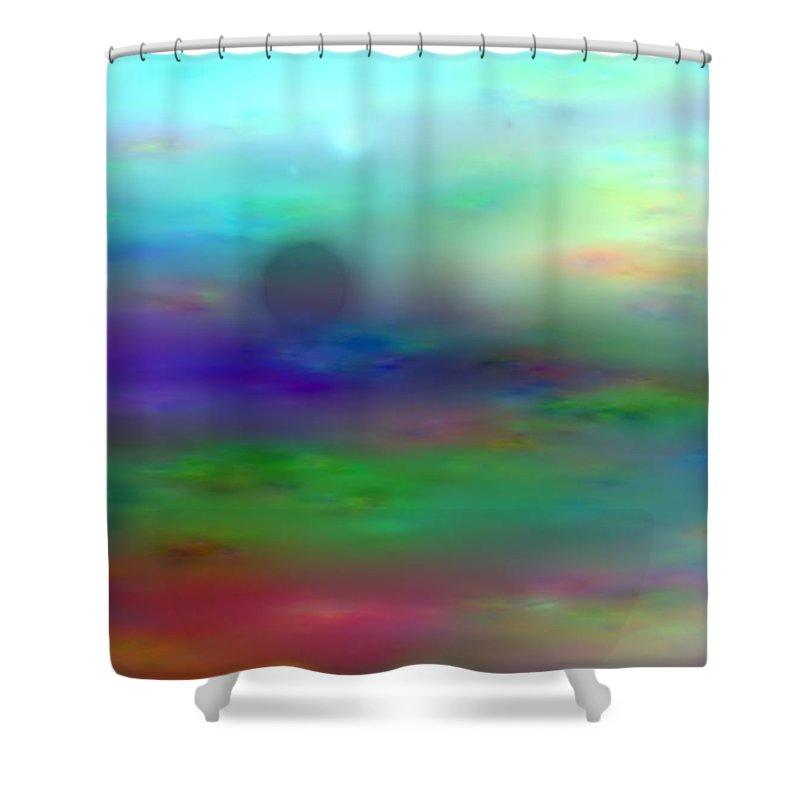 Art Digital Art Shower Curtain featuring the digital art Colour28mlv - Impressions by Alex Porter