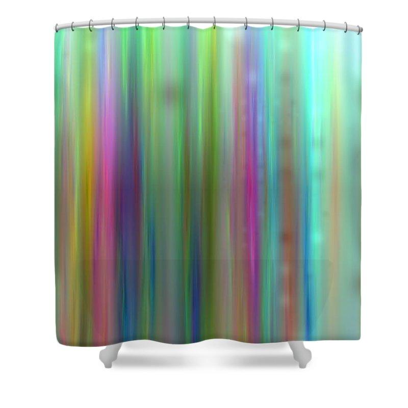 Art Digital Art Shower Curtain featuring the digital art Colour2mlv - Impressions by Alex Porter