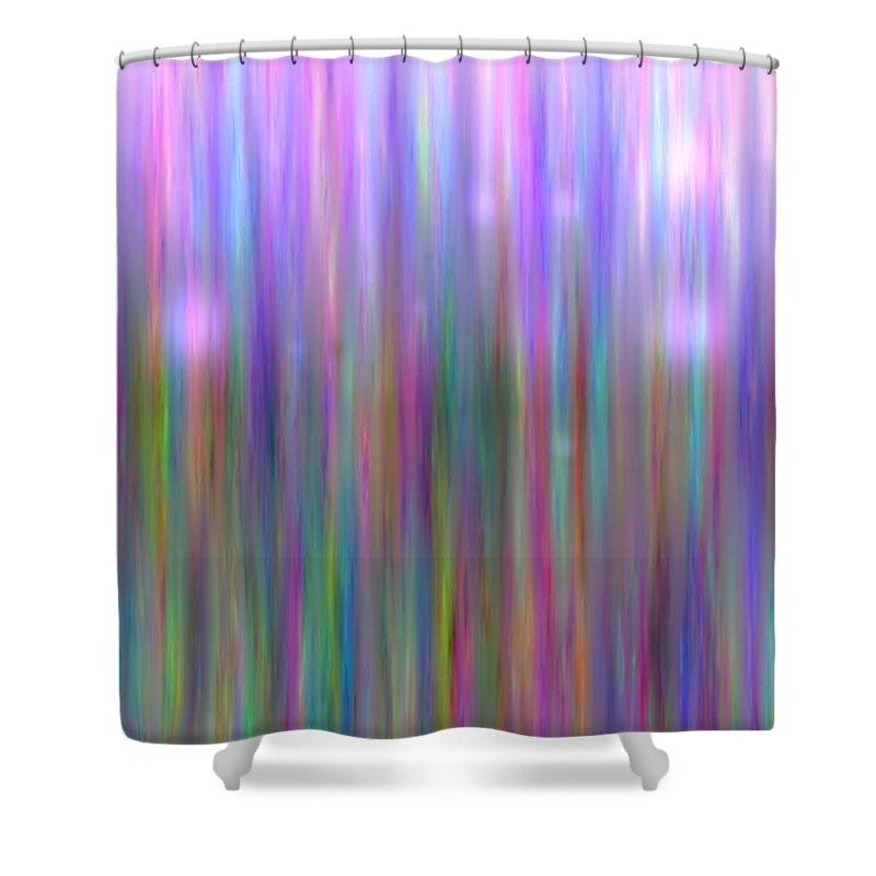 Art Digital Art Shower Curtain featuring the digital art Colour7mlv - Impressions by Alex Porter