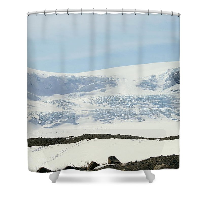 Glacier Shower Curtain featuring the photograph Columbia Icefields by Tiffany Vest