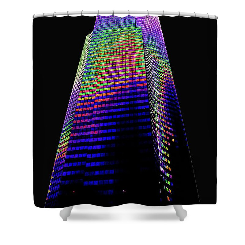 Seattle Shower Curtain featuring the photograph Columbia Tower Seattle Wa by Tim Allen