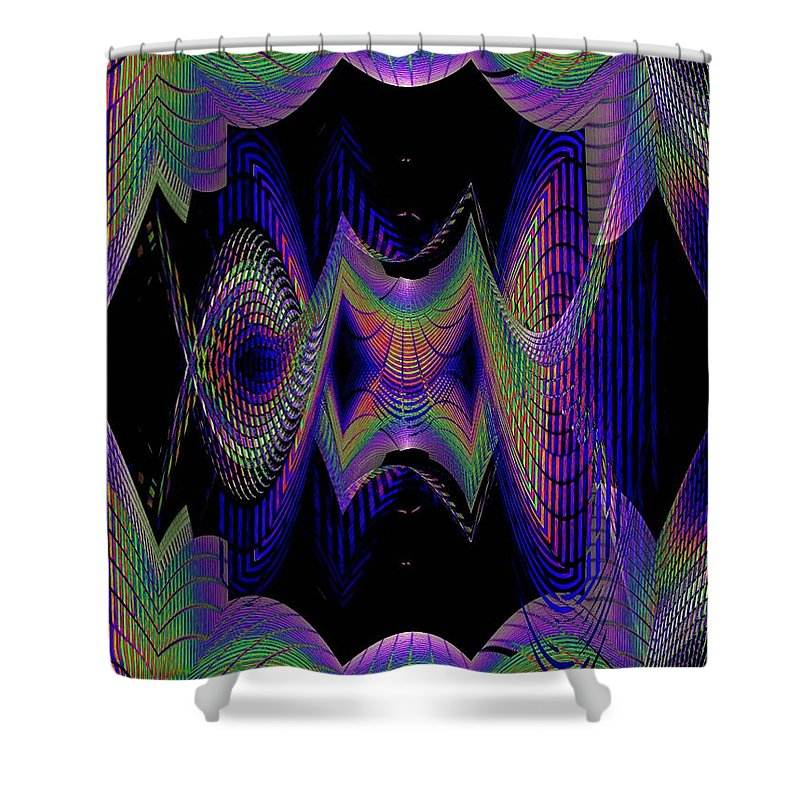 Seattle Shower Curtain featuring the digital art Columbia Tower Vortex 2 by Tim Allen