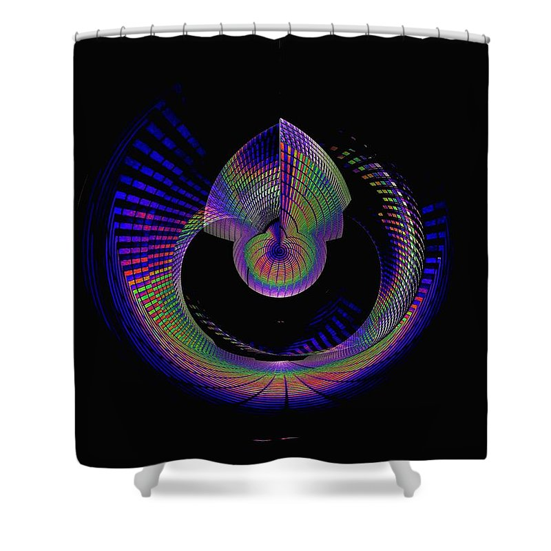 Seattle Shower Curtain featuring the photograph Columbia Tower Vortex 4 by Tim Allen