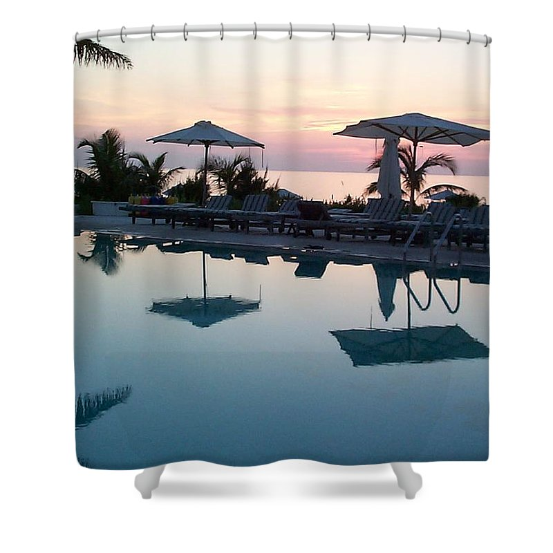 Charity Shower Curtain featuring the photograph Columbus Isle by Mary-Lee Sanders