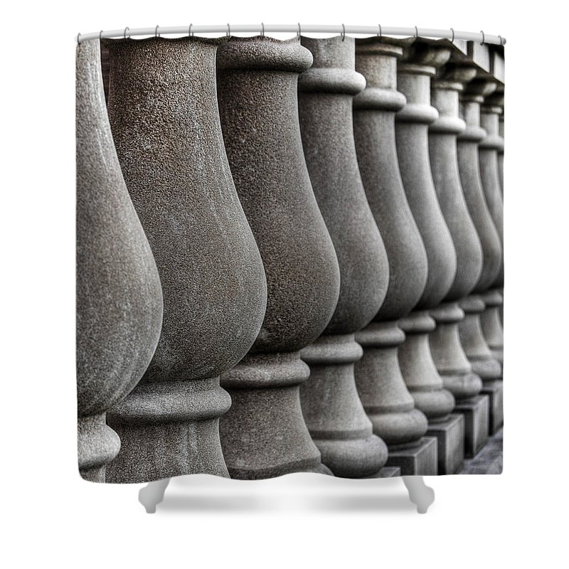 Ann Arbor Shower Curtain featuring the photograph Columns by Chris Fleming