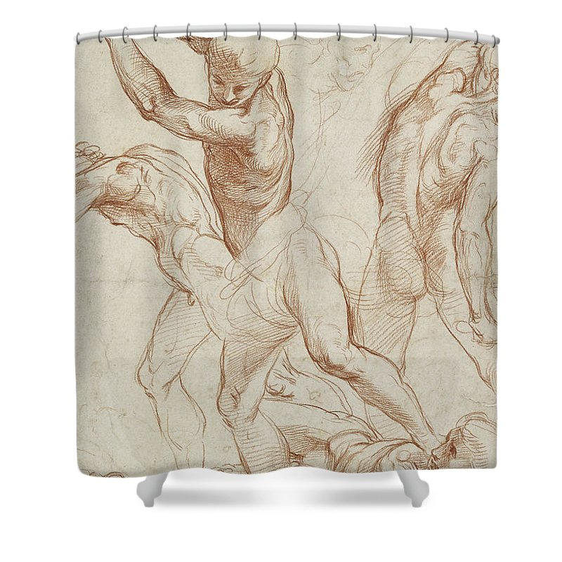 Shower curtains with naked men