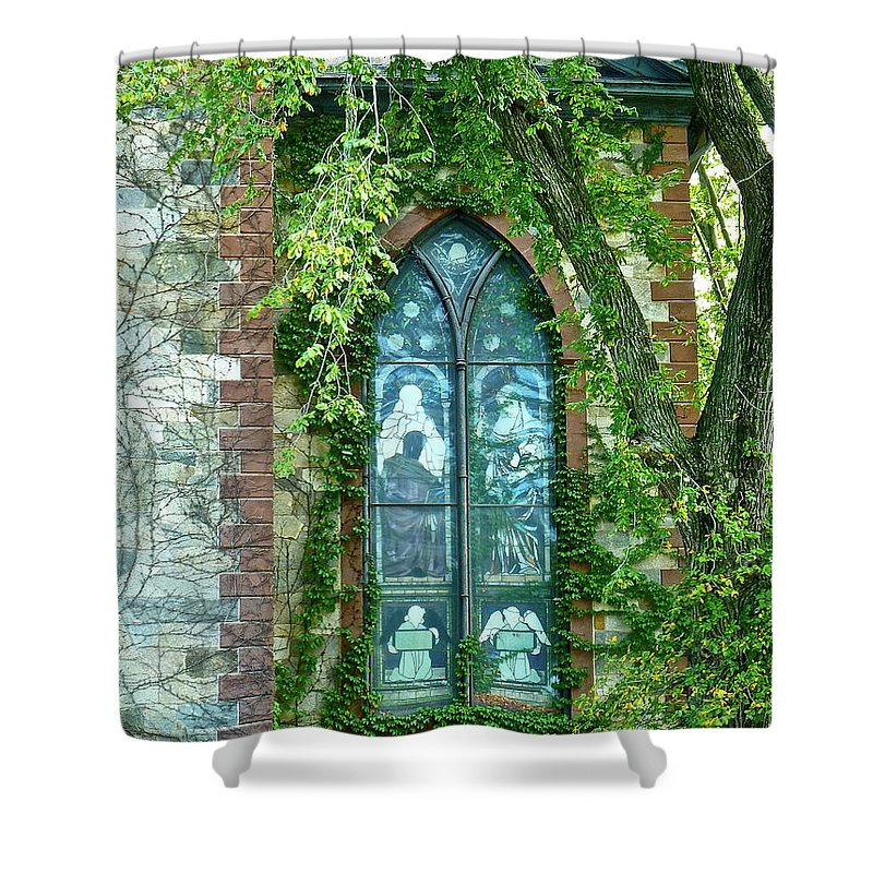 Church Shower Curtain featuring the photograph Come Meet God by Diana Hatcher