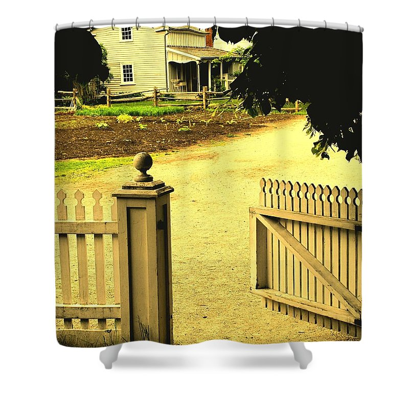 Farm Shower Curtain featuring the photograph Come On In by Ian MacDonald
