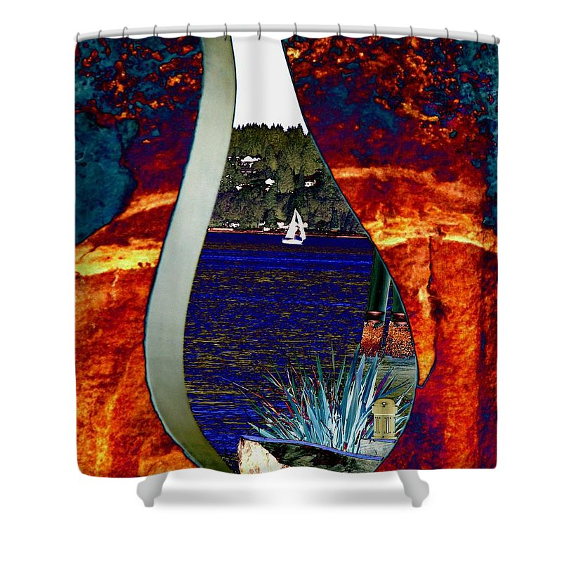 Bremerton Shower Curtain featuring the photograph Come Sail Away by Tim Allen