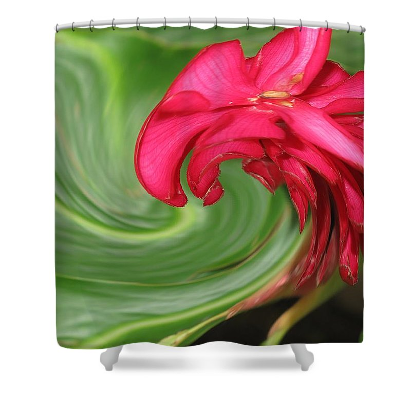 Flower Shower Curtain featuring the photograph Come To Me by Ian MacDonald
