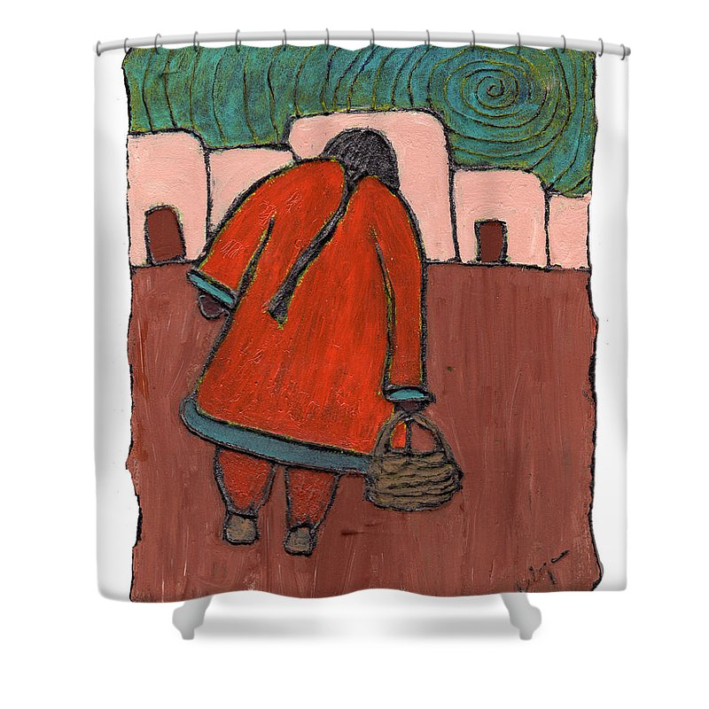 Southwest Shower Curtain featuring the painting Coming Home by Wayne Potrafka