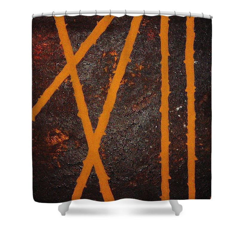 Original Shower Curtain featuring the painting Coming Together by Todd Hoover