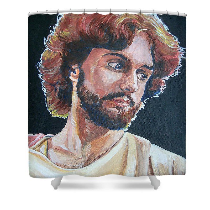 Jesus Christ Shower Curtain featuring the painting Compassionate Christ by Bryan Bustard