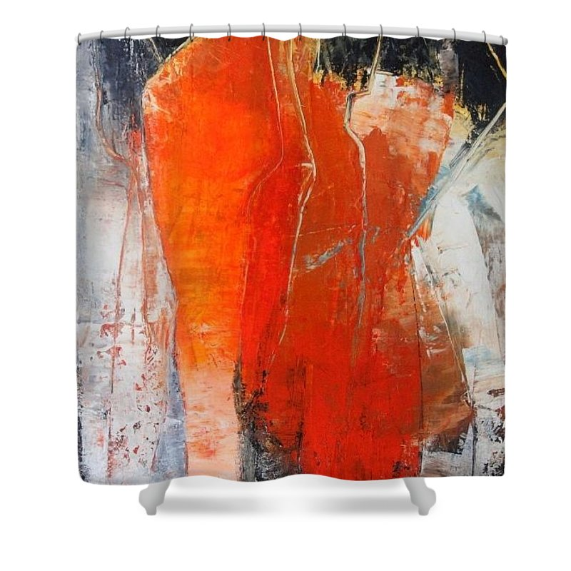 Abstract Shower Curtain featuring the painting Artwork 9.116 by Lorch