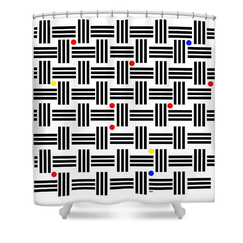 Abstract Art Shower Curtain featuring the digital art Composition 2 by Lois Boyce