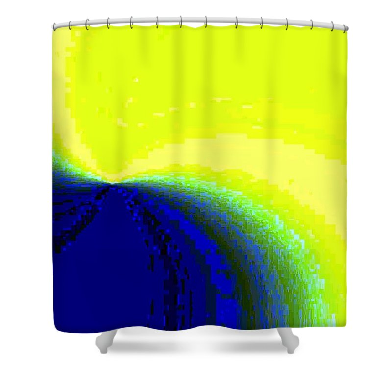 Abstract Shower Curtain featuring the digital art Conceptual 14 by Will Borden