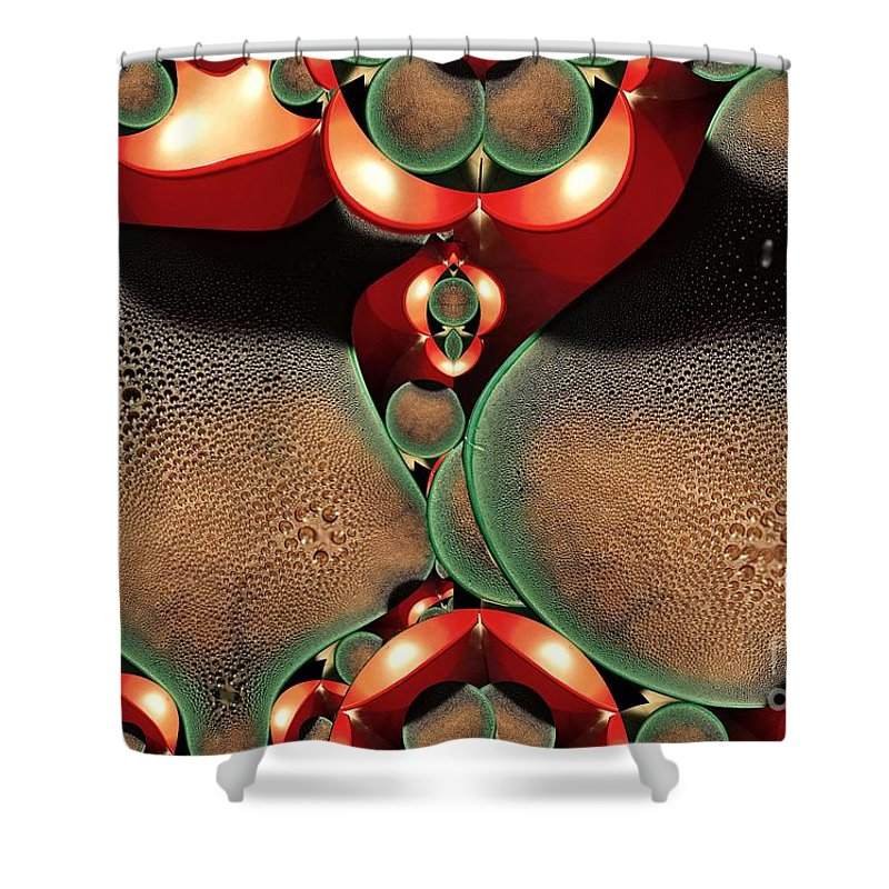 Digital Painting Shower Curtain featuring the digital art Condensation by Ron Bissett