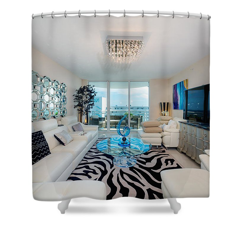 Shower Curtain featuring the photograph Condo Living by Jody Lane