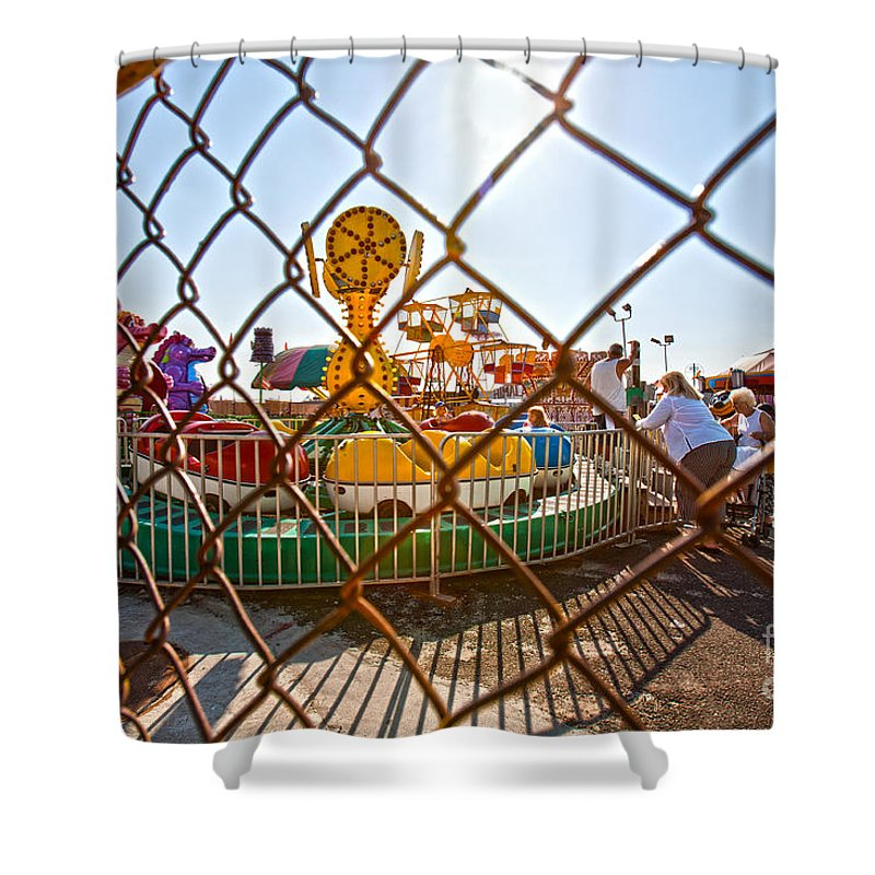 Coney Island Shower Curtain featuring the photograph Coney Island Memories 15 by Madeline Ellis