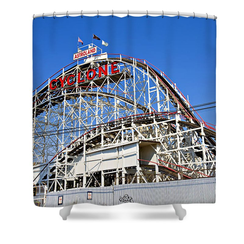 Coney Island Shower Curtain featuring the photograph Coney Island Memories 2 by Madeline Ellis
