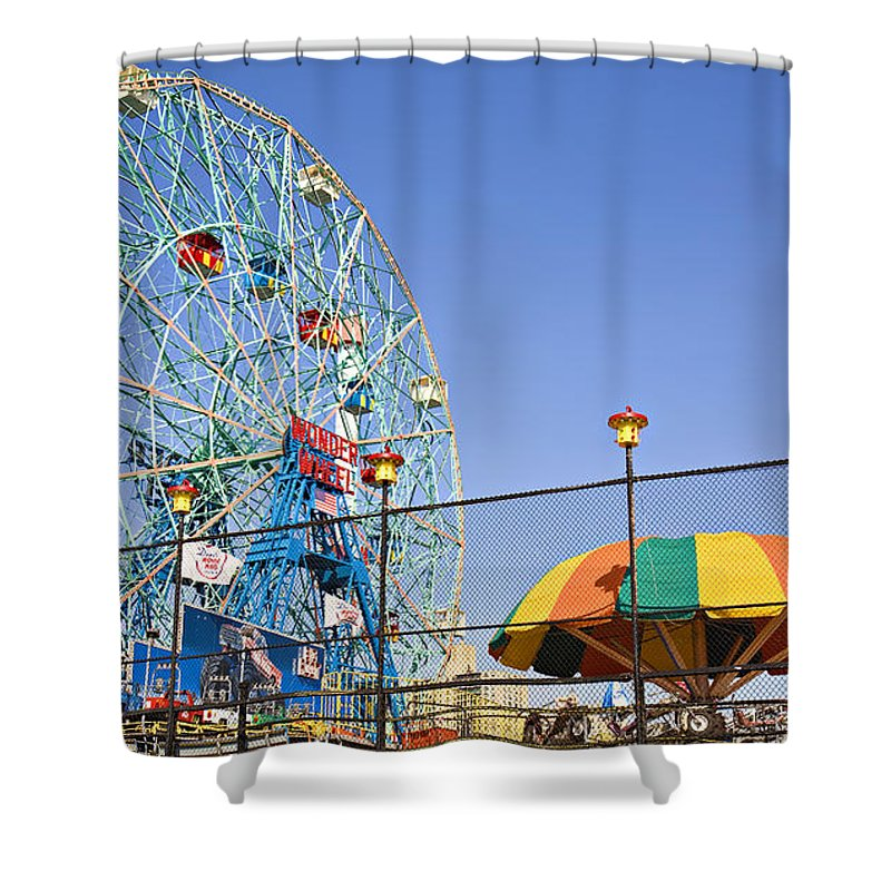 Coney Island Shower Curtain featuring the photograph Coney Island Memories 6 by Madeline Ellis