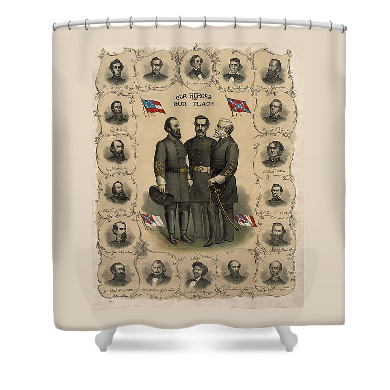 The War Of Northern Aggression Shower Curtains