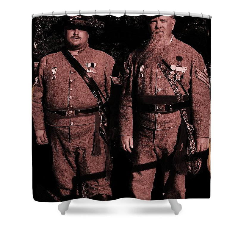 Tintype Shower Curtain featuring the photograph Confederate Tintype Civil War by Eric Schiabor