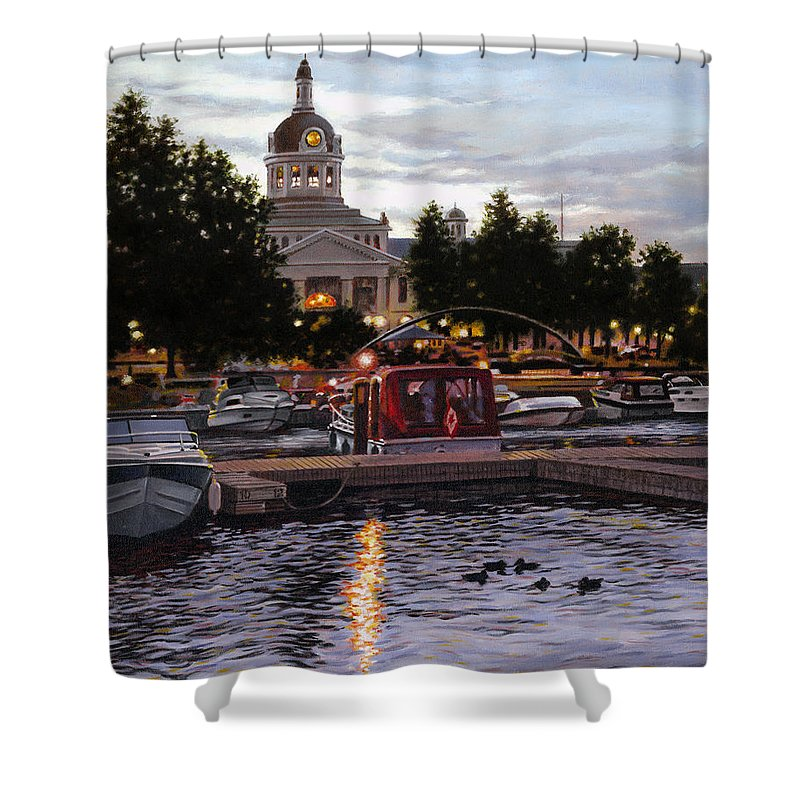 Kingston Shower Curtain featuring the painting Confederation Park by Richard De Wolfe