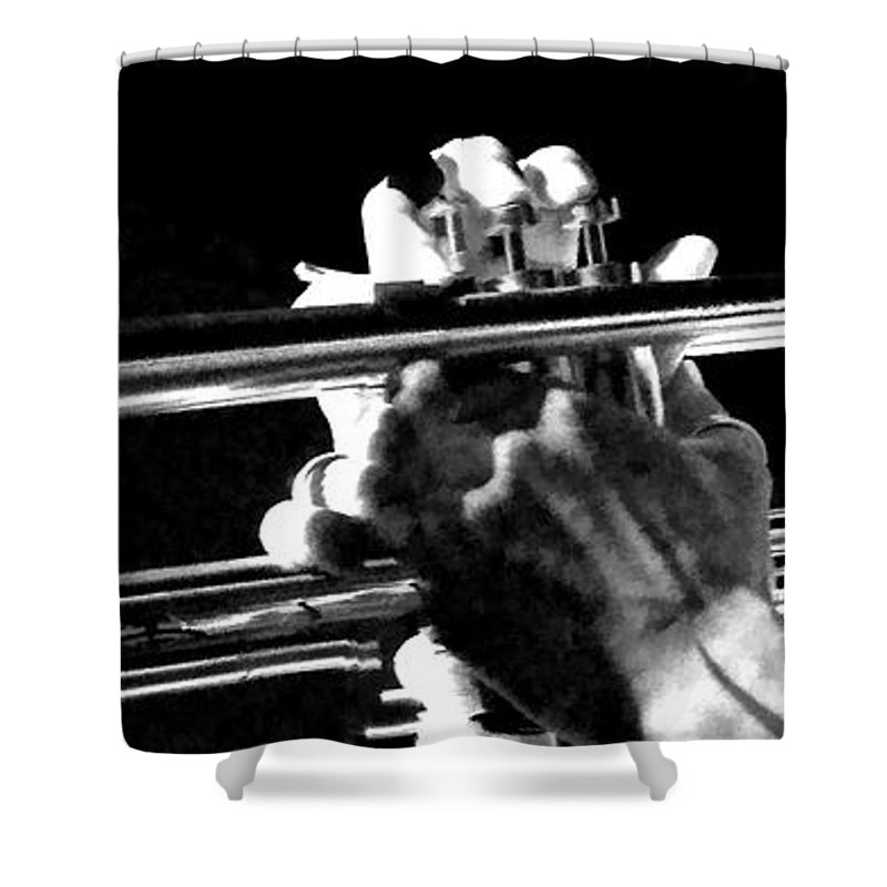 Musician Shower Curtain featuring the photograph Confidence by Anthony Walker Sr