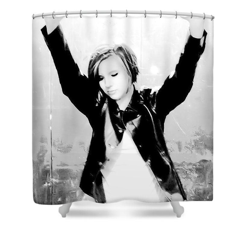Portrait Shower Curtain featuring the photograph Confined by Kristie Bonnewell