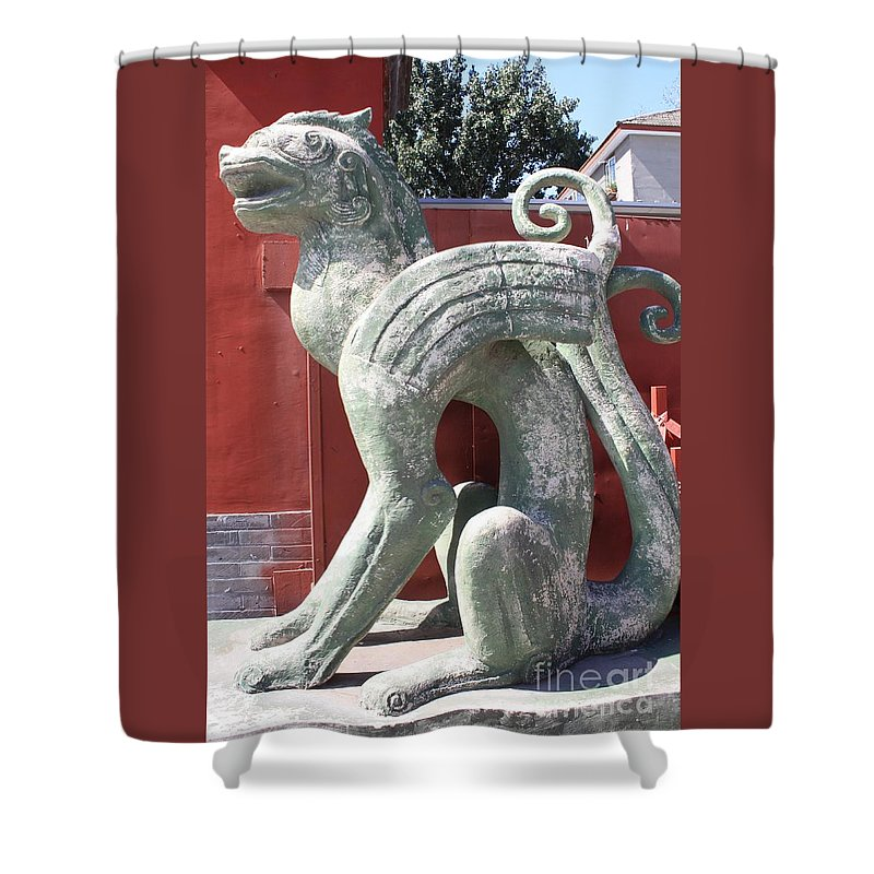 Confucius Temple Shower Curtain featuring the photograph Confucius Temple Phoenix by Carol Groenen