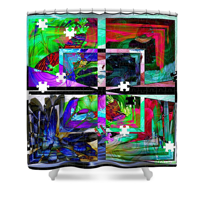 Abstract Art Shower Curtain featuring the photograph Confused by Donna Bentley
