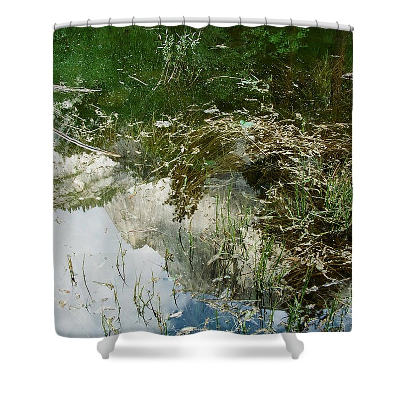 Mirror Lake Shower Curtain featuring the photograph Confusion by Kathy McClure
